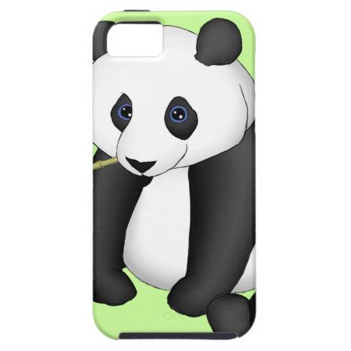 Panda que come el bambú iPhone 5 funda