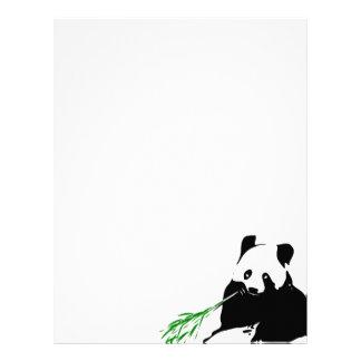 Panda que come el bambú plantilla de membrete