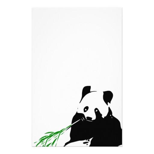 Panda que come el bambú papeleria personalizada