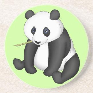Panda que come el bambú posavaso para bebida