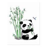 Panda que come el bambú postal