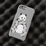 Panda que come el ejemplo de bambú funda de iPhone 6 tough