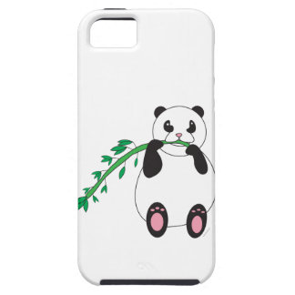 Panda que come la caja de bambú de la casamata iPhone 5 carcasas