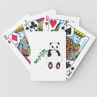 Panda que come los naipes de bambú barajas de cartas