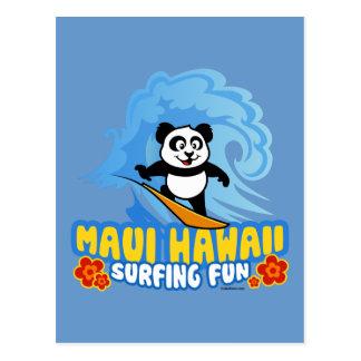 Panda que practica surf de Maui Postal