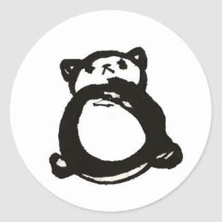 Panda quisquillosa pegatina redonda