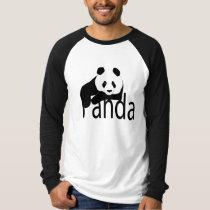 Panda raglan t-shirt