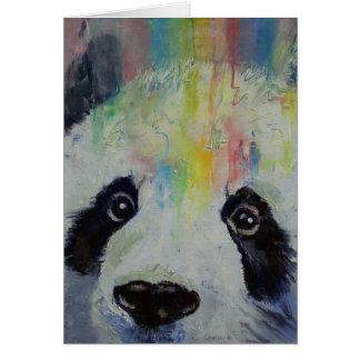 Panda Rainbow Card