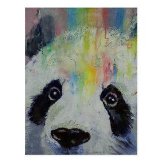 Panda Rainbow Postcard
