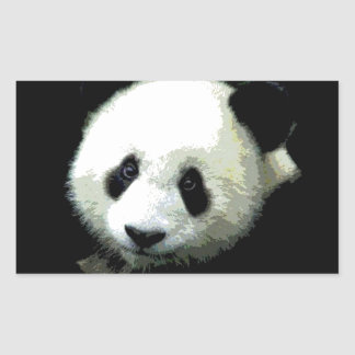 Panda Rectangular Sticker