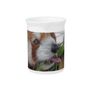 panda red animal print cute beverage pitchers