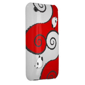 Panda Red & White Case-Mate iPhone 3 Case