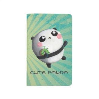 Panda redonda linda cuaderno grapado