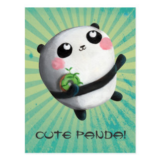 Panda redonda linda tarjetas postales