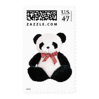Panda rellena linda sellos postales