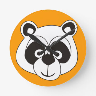 Panda Reloj Redondo Mediano