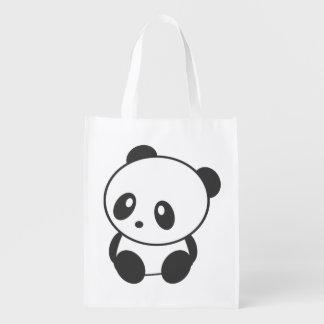 Panda reusable bag market tote
