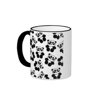 Panda Ringer Coffee Mug
