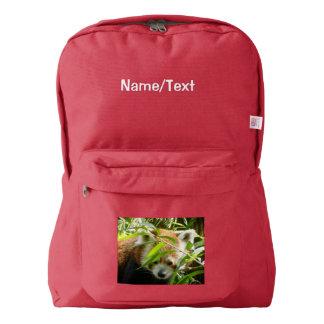 panda roja adorable mochila