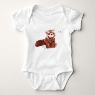 Panda roja body para bebé