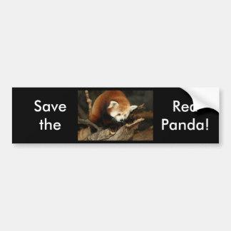Panda roja pegatina de parachoque