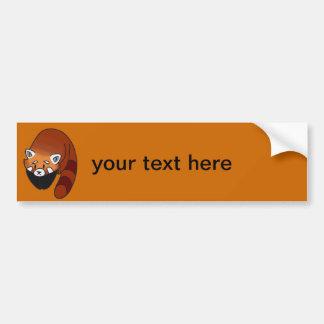 Panda roja curiosa pegatina para auto