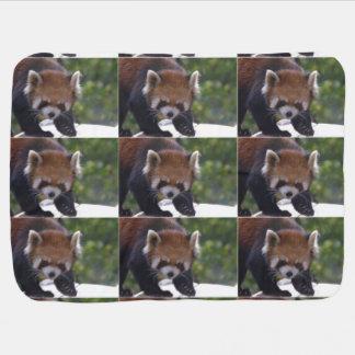 Panda roja de vagabundeo mantas de bebé