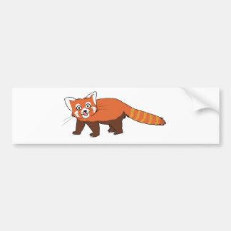 Panda roja del dibujo animado lindo que pega hacia pegatina para auto