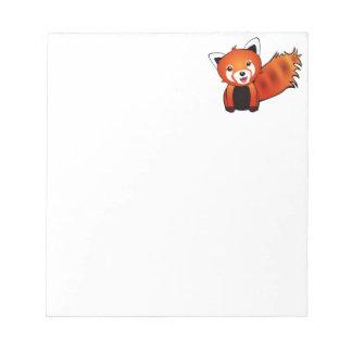 Panda roja feliz bloc