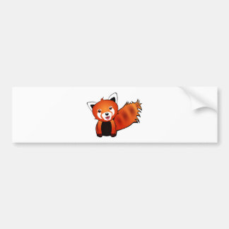 Panda roja feliz pegatina para auto
