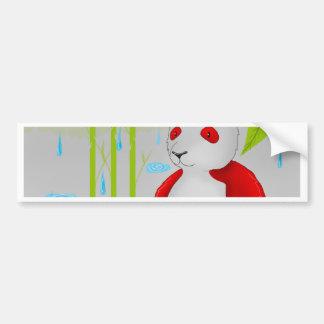 Panda roja furtiva pegatina para auto