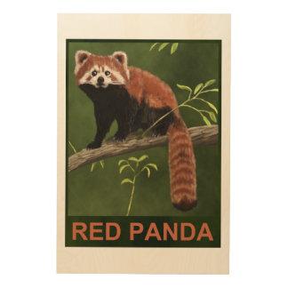 Panda roja cuadros de madera