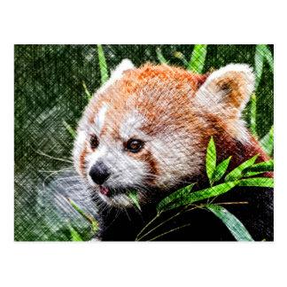 panda roja incompleta postales