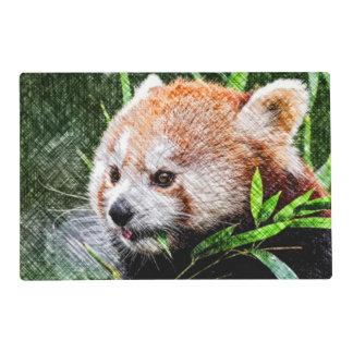 panda roja incompleta tapete individual