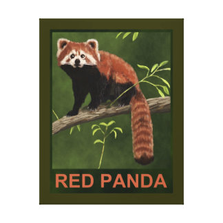 Panda roja impresión en lona
