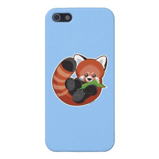 Panda roja linda iPhone 5 fundas