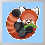 Panda roja linda póster