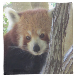Panda roja linda servilleta de papel