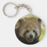 Panda roja llavero redondo tipo chapa