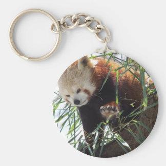 Panda roja llavero redondo tipo pin
