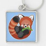 Panda roja llaveros