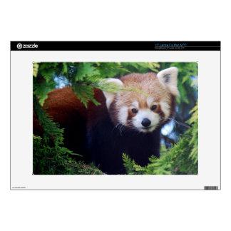 Panda roja portátil calcomanía
