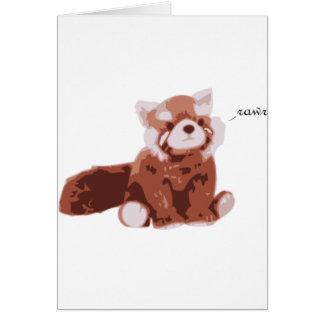 Panda roja tarjeta de felicitación
