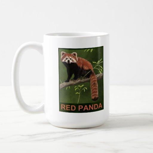 Panda roja taza