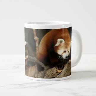 Panda roja tazas extra grande