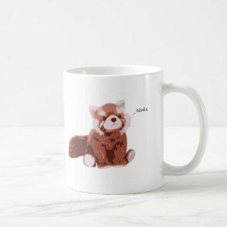 Panda roja taza de café