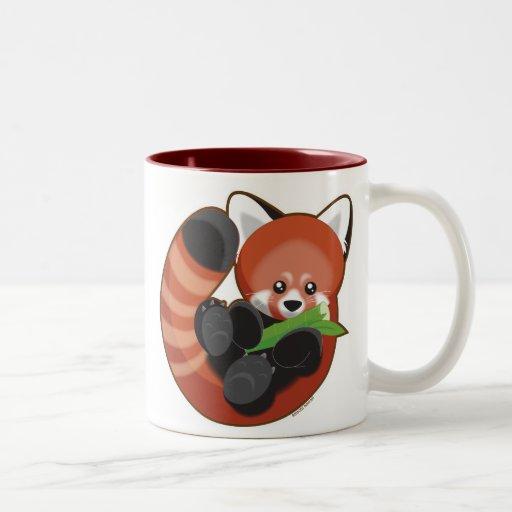 Panda roja taza dos tonos