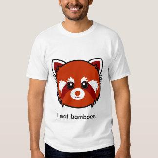 Panda roja: Yo como bambúes Polera