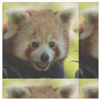 panda roja tela