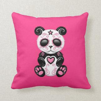 Panda rosada del azúcar del zombi almohadas